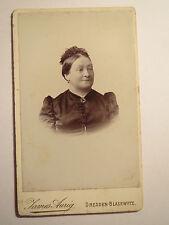 Dresda-bolla scherzo-signora Bachmann nel vestito con i capelli-gioielli-Portrait/CDV