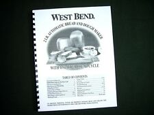 West Bend 41083 Bread Maker Machine Instruction Manual w/ Recipes 41083