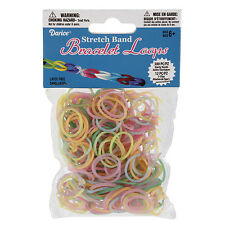 312pc Multi Colors Glow Stretch Rubber Band Bracelet Loops and S-Clips Set