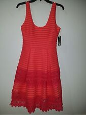 Guess Red Flare Dress Size Medium