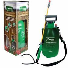 Garden Fence Pressure Sprayer 5 Ltr Pump Action Knapsack Weedkiller Decking Shed