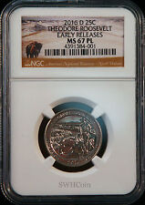 2016-D 25C Theodore Roosevelt - NGC MS67 PL (Proof-Like) Quarter - Early Release