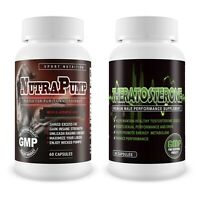 Testosterone Booster & NutraPump Muscle Gain Sport Gym Performance Supplement