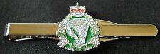 Royal Irish Regiment RIR Regiment laurels Silver  Plated Tie Clip / holder