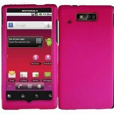 Snap-On Hard Rubberized Case Cover for Motorola Triumph WX435 - Hot Pink