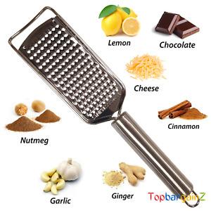 Stainless Steel Hand Food Grater Cheese Parmesan Flat Lemon Zester Nutmeg Ginger