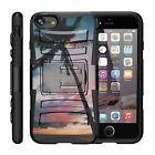 "For Apple iPhone 8 (4.7"") Rugged Hybrid Holster Belt Clip Case Armor Kickstand"