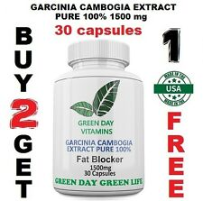 GARCINIA CAMBOGIA EXTRACT PURE 100% 1500 mg ORIGINAL  Weight Loss  FAT BURNER