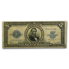 1923 $5.00 Silver Certificate Lincoln Porthole Note Fine