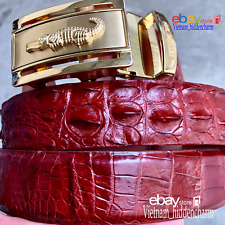 Men's Belt - Genuine Crocodile  Skin Leather - Belt Handmade