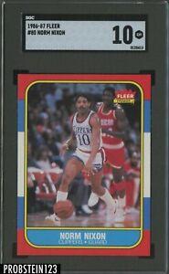 1986-87 Fleer Basketball #80 Norm Nixon Los Angeles Clippers SGC 10 GEM MINT