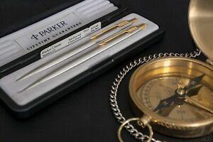 Golden Beauty - 14K Gold Parker Classic Stainless Steel vintage pen set