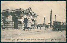 Padova città Nuova Barriera Tranvia Elettrica Padova Fusina cartolina QT8187