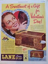 1946 Sweetheart Gift Lane Cedar Hope Chest Valentines Day Original Ad
