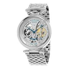 Stuhrling Special Reserve 797 01 3 Automatic Skeleton Dual Time AM PM Mens Watch