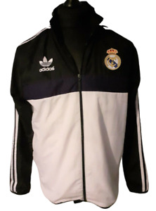 Mens Adidas Real Madrid 2015/16 Anthem Training Hooded Jacket - Size Medium Used