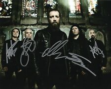 """Paradise Lost band REAL hand SIGNED 8x10"""" photo #1 COA Autographed by 5 members"""