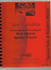 David Bradley 917 5751 Walk Behind Tractor Service Parts Operators Manual