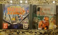 Star Wars set of 2 Video Games Rebel Assault & Dark Forces Rare 90s PC