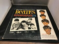 RECORD ALBUM LP 33 THE BEATLES VJ 1092 SONGS PICTURES STORIES WITH FLAP ORIGINAL