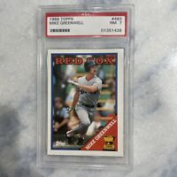 1988 TOPPS MIKE GREENWELL ALL STAR ROOKIE CARD #493 - GRADED PSA 7