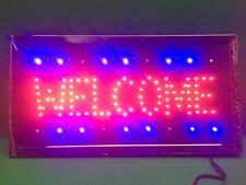 "19""x10� Flashing Led Light Business Welcome Sign New in Box - Ultra Bright!"