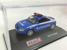 Real X Audi TT Sport Italy Italian Polizia Police 1/72 Diecast Car Rare