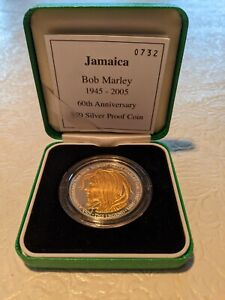 BOB MARLEY $50 SILVER AND GOLD PROOF COIN - 60TH ANNIVERSARY LIMITED EDITION