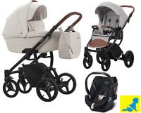 Kinderwagen BEBETTO LUCA PRO 3 in 1 Kinderwagen + Sportwagen + Autositz NEU