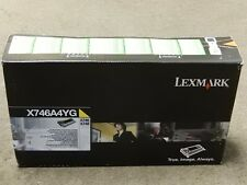 Lexmark X746A4YG Yellow Toner Cartridge X746 X748 Genuine New Sealed Box