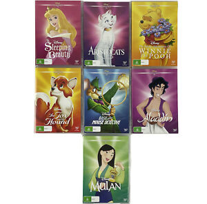7 x Assorted Disney Classics DVDs PAL Milan, Aladdin, Pooh, Fox & the Hound
