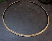 Chices 925 Silber Collier Kette ARU Armbrust-Ruf Keltern Bicolor Teil Vergoldet