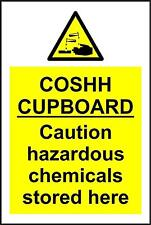 COSHH Cupboard Safety Sign