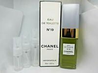 Chanel No 19 Eau de Toilette EDT - SAMPLE - 5 ml 10 ml 15 ml