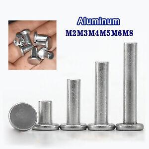 Aluminium Flat Head Solid Rivets Diameter 2mm, 3mm, 4mm, 5mm, 6mm, 8mm Rivet