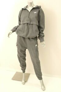 NIKE Charcoal Heather 2 Piece Hoodie Jogging Suit M