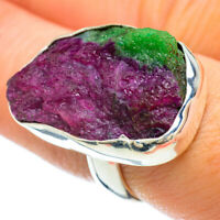 Ruby Zoisite 925 Sterling Silver Ring Size 7.5 Ana Co Jewelry R42483F