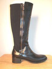 Mid-Calf Boots 9M Black Zip Closure Low Heels Nickels