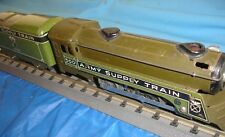 Marx prewar 500 Series Engine and tender - 0-4-0 O Guage Army Supply Train.
