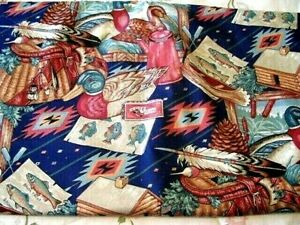 1 yd  CABIN FISHING HUNTING Cotton Fabric  FOR MASKS/INSTANT POT COVERS,etc