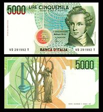VF Italy Banknote P102b 5,000 Lire 11.4.1973
