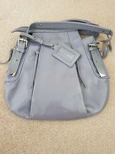 Francesco Biasia designer grey  Patent Leather Bag