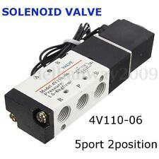 2 Posizioni 5 Vie Air Valvola Solenoide Kit Pilotata 4V110-06 1/8'' PT DC12V