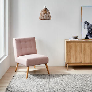 Lexi Lounge Chair - Pink Lounge Single Sofa Dining Accent Chair W/Capacity 100kg