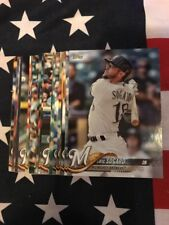 2018 Topps Milwaukee Brewers Team Set With Rookie And Leader Cards
