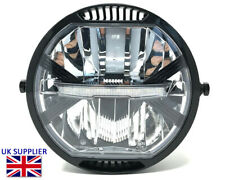 "HOMOLOGATED LED Motorcycle Headlight 7"" Project Custom Cafe Racer Streetfighter"