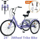 """Best Bikes For Seniors - Tricycles 7Speed Trikes 24"""" 3Wheel Bikes Bicycles Cruise Review"""