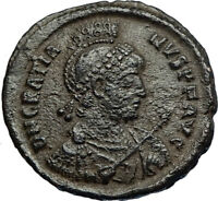 GRATIAN on Ship w Victory Authentic Ancient Genuine 378AD Roman Coin i67728