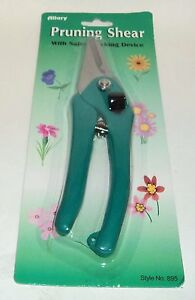 ALLARY Pruning Shear With Safety Locking Device Style #895 TEAL NIP