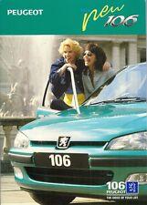 Peugeot 106 Mid-Late 1996 UK Market Sales Brochure XR XL XN 1.1 1.4 1.5D